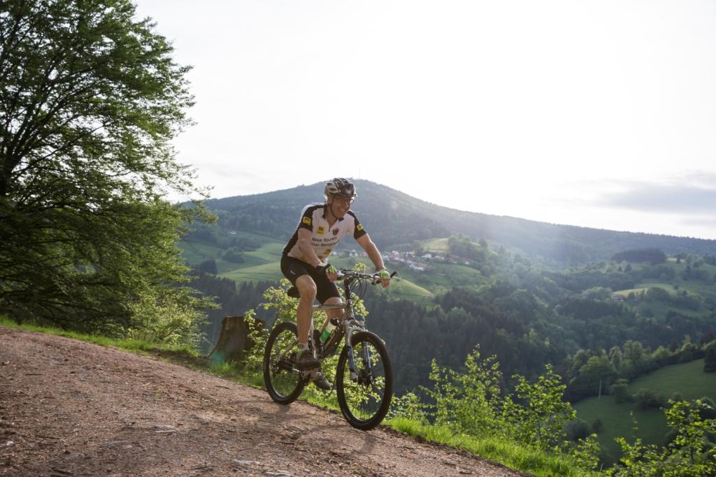 Mountainbike-Fahrer