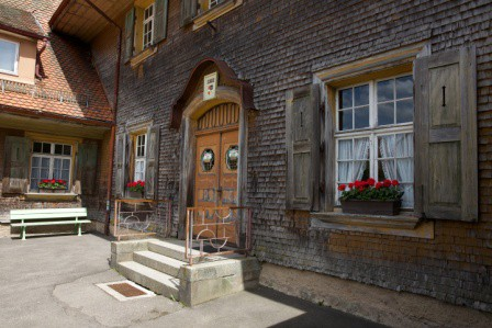 Hausfassade in Haeg-Ehrsberg