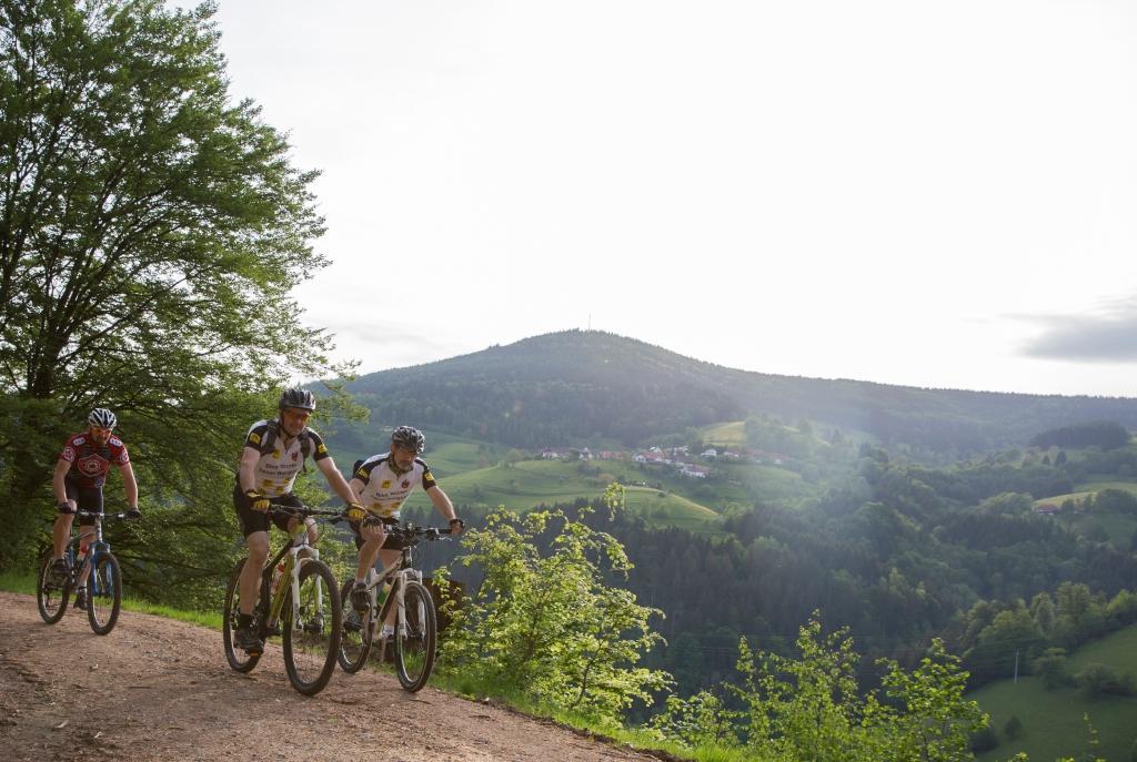 Mountainbikefahrer bei Mambach