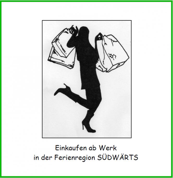 """Titelbild des Flyers """"Fabrikverkauf in der Ferienregion Südwärts"""""""