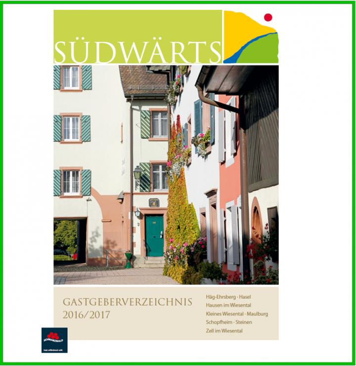 Titelbild des Gastgeberverzeichnis der Ferienregion Südwärts