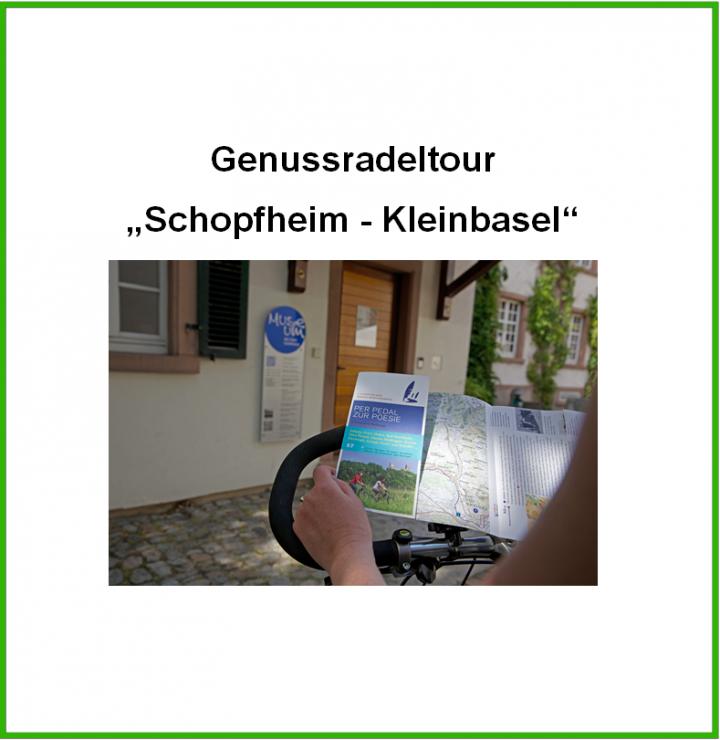 """Titelbild """"Genussradeltour Schopfheim-Kleinbasel"""""""