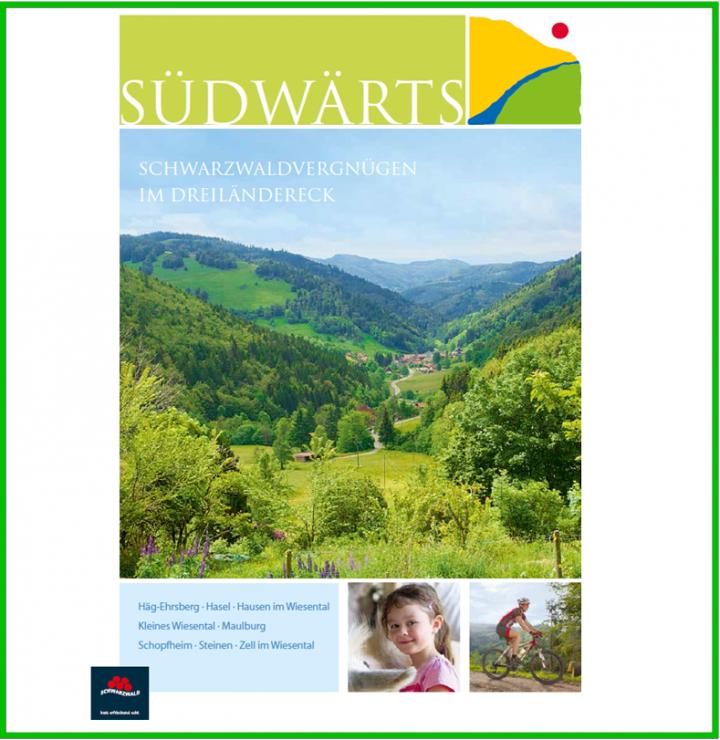 Titelbild der Imagebroschüre der Ferienregion Südwärts