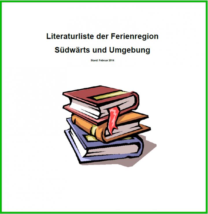 """Titelbild """"Literaturliste der Ferienregion Südwärts und Umgebung"""""""