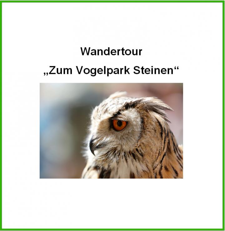 """Titelbild """"Wandertour Vogelpark Steinen"""""""