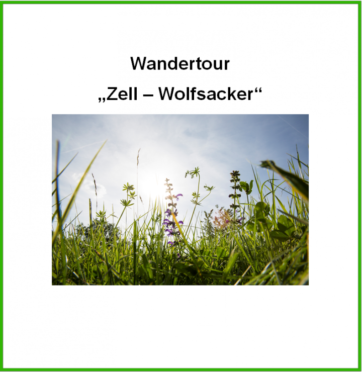 """Titelbild """"Wandertour Zell - Wolfsacker"""""""