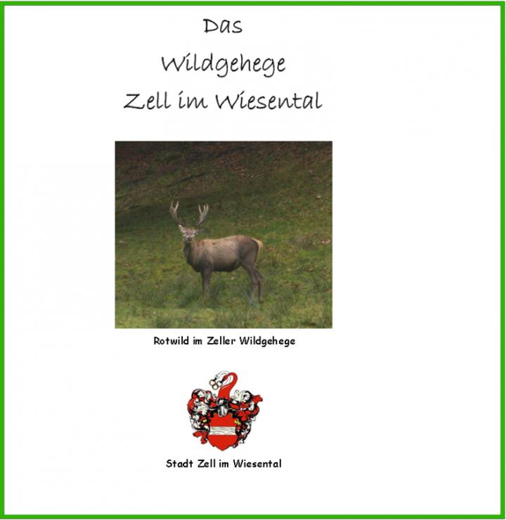 """Titelbild des Flyer """"Das Wildgehege Zell im Wiesental"""""""