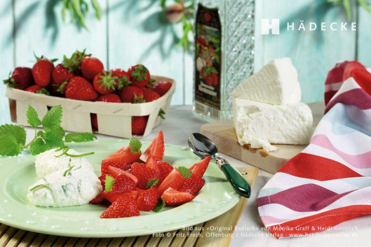 Erdbeeren mit Frischkäsecreme